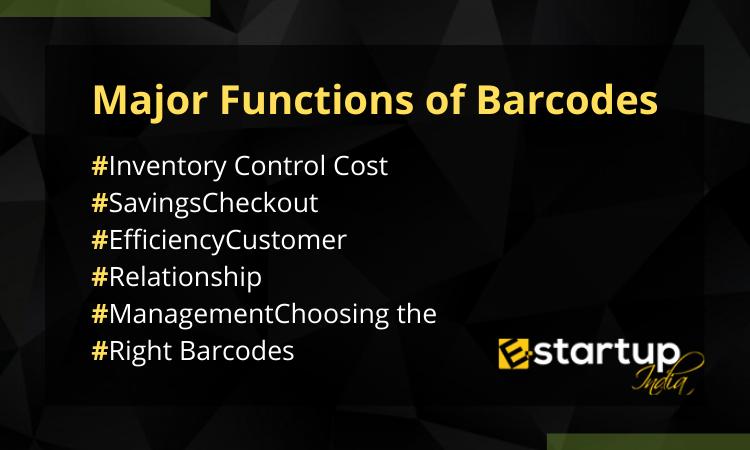 Major Functions of Barcodes