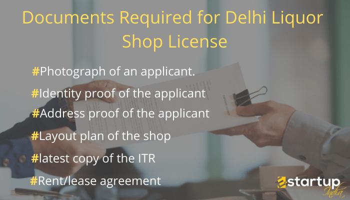 Documents Required for Delhi liquor shop license